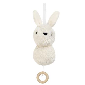 Aura Rabbit speldosa ekologisk bomull stoppning majsstärkelse vit Frank&Fischer