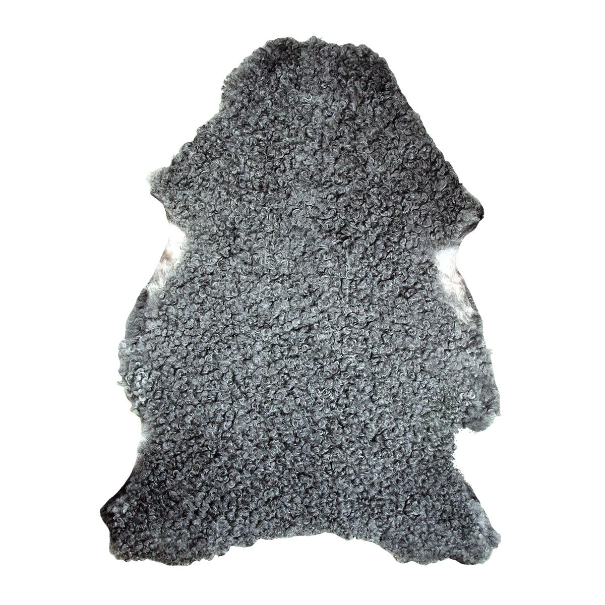 Lammskinnsfäll svensk gotlandsfår tvättbar grå