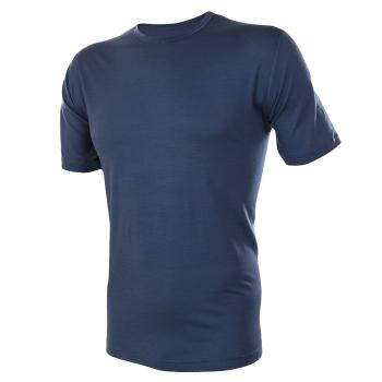 Janus herr LightWool t-shirt marinblå 100% merinoull