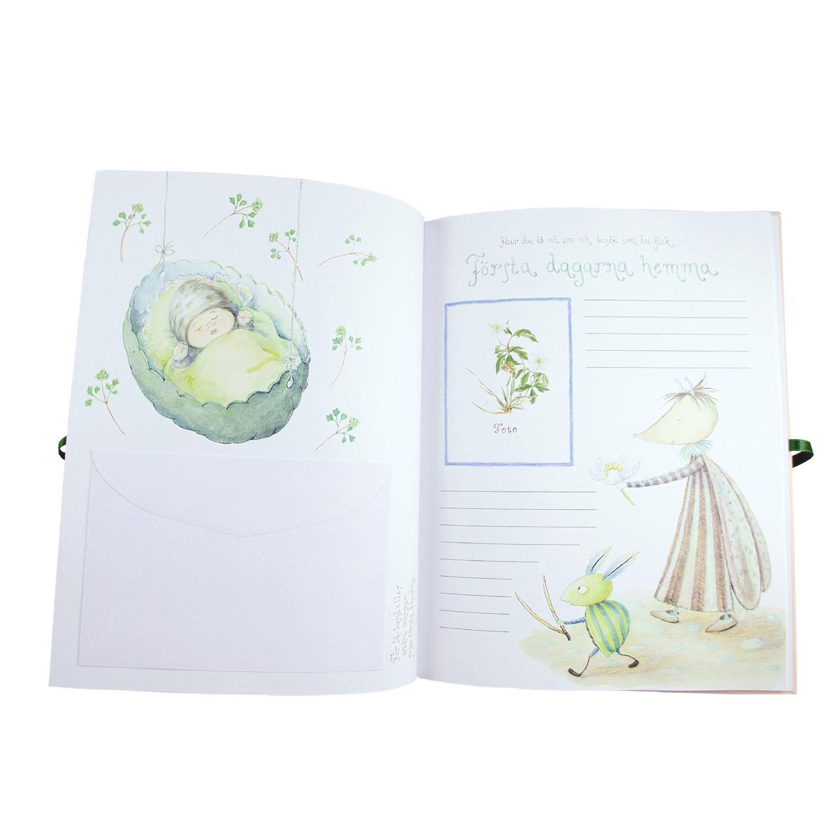 """Bok """"Det var en gång"""" boken du fyller med små och stora händelser från barnets första år"""