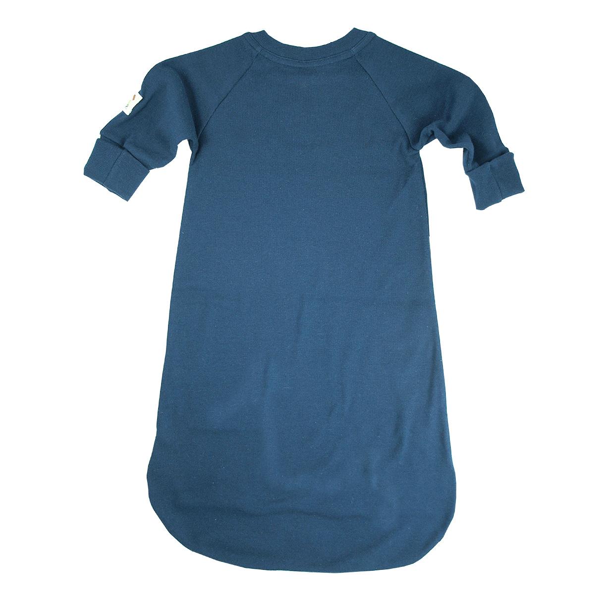 Minimundus sovpåse med knappar nedtill och handgömma ekologisk bomull marinblå