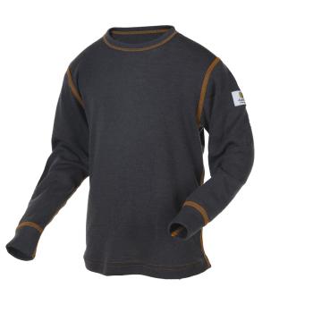 Janus Kids Basic Wool tröja 100% merinoull grå