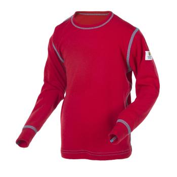 Janus Kids Basic Wool tröja 100% merinoull röd