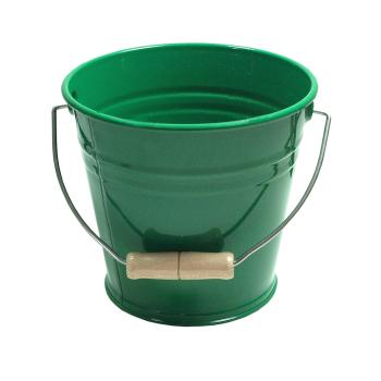 Hink av metall grön