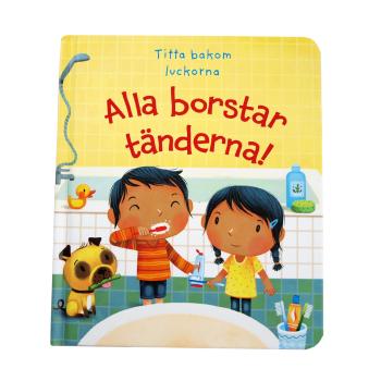 Bok: Alla borstar tänderna, titta bakom luckorna Tukan Förlag