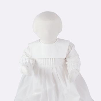 Krage till minimundus dopklänning av ekologisk bomull modell fyrkant