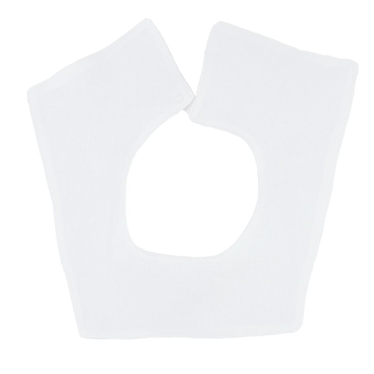 Minimundus krage fyrkant till dopklänning ekologiskt lin vit