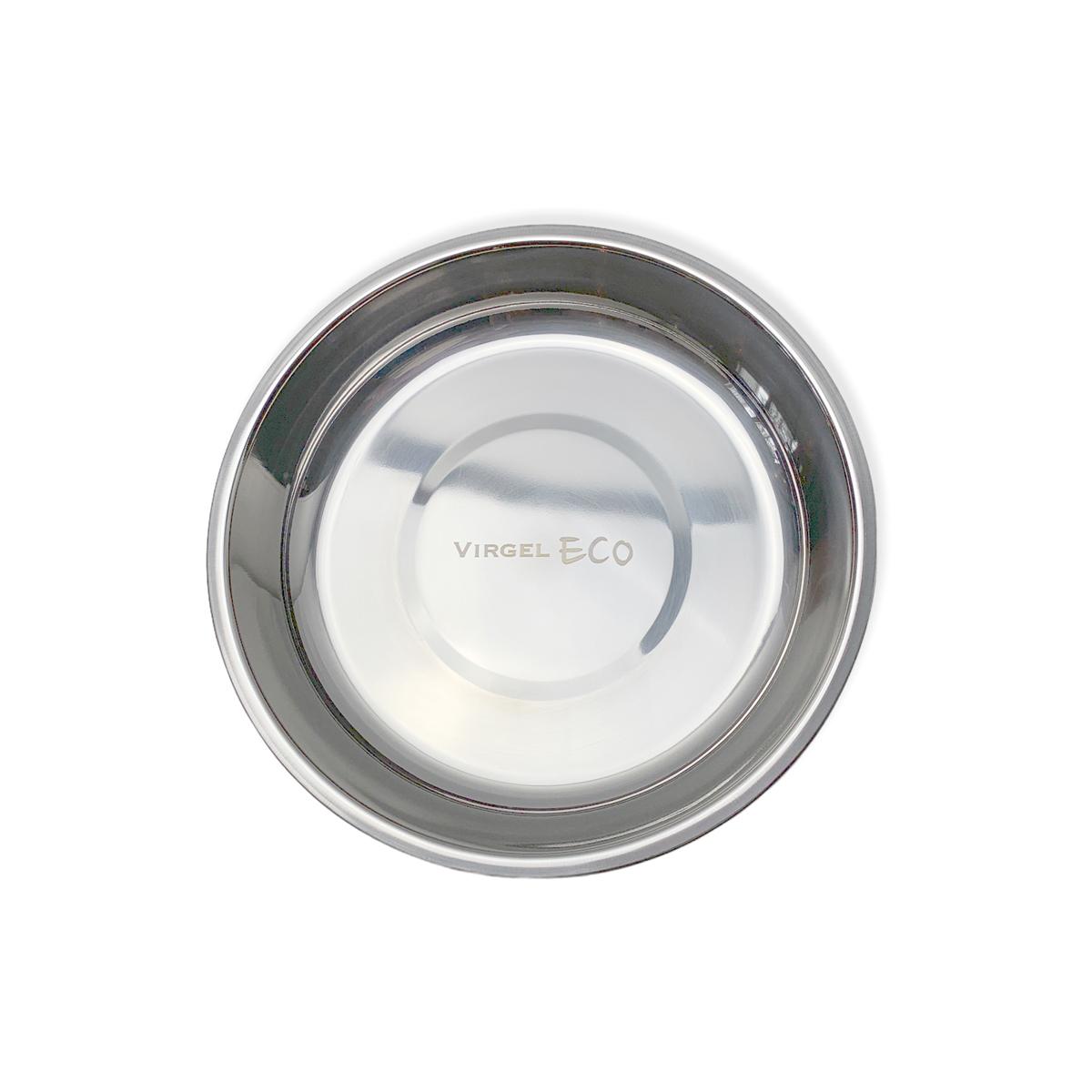 Tallrik av rostfritt stål 18/8, 14 cm i diameter, hög kant perfekt barntallrik, Virgel