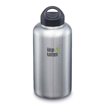 Klean Kanteen Wide 1900 ml vattenflaska av metall, brushed stainless