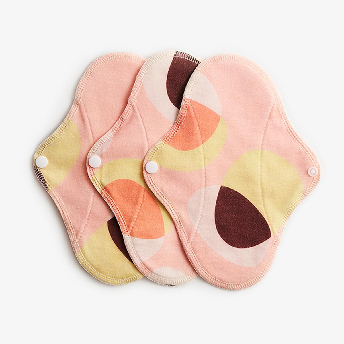 Imse Active ekologiskt trosskydd tvätt- och återanvändningsbart 3-pack pink hoop