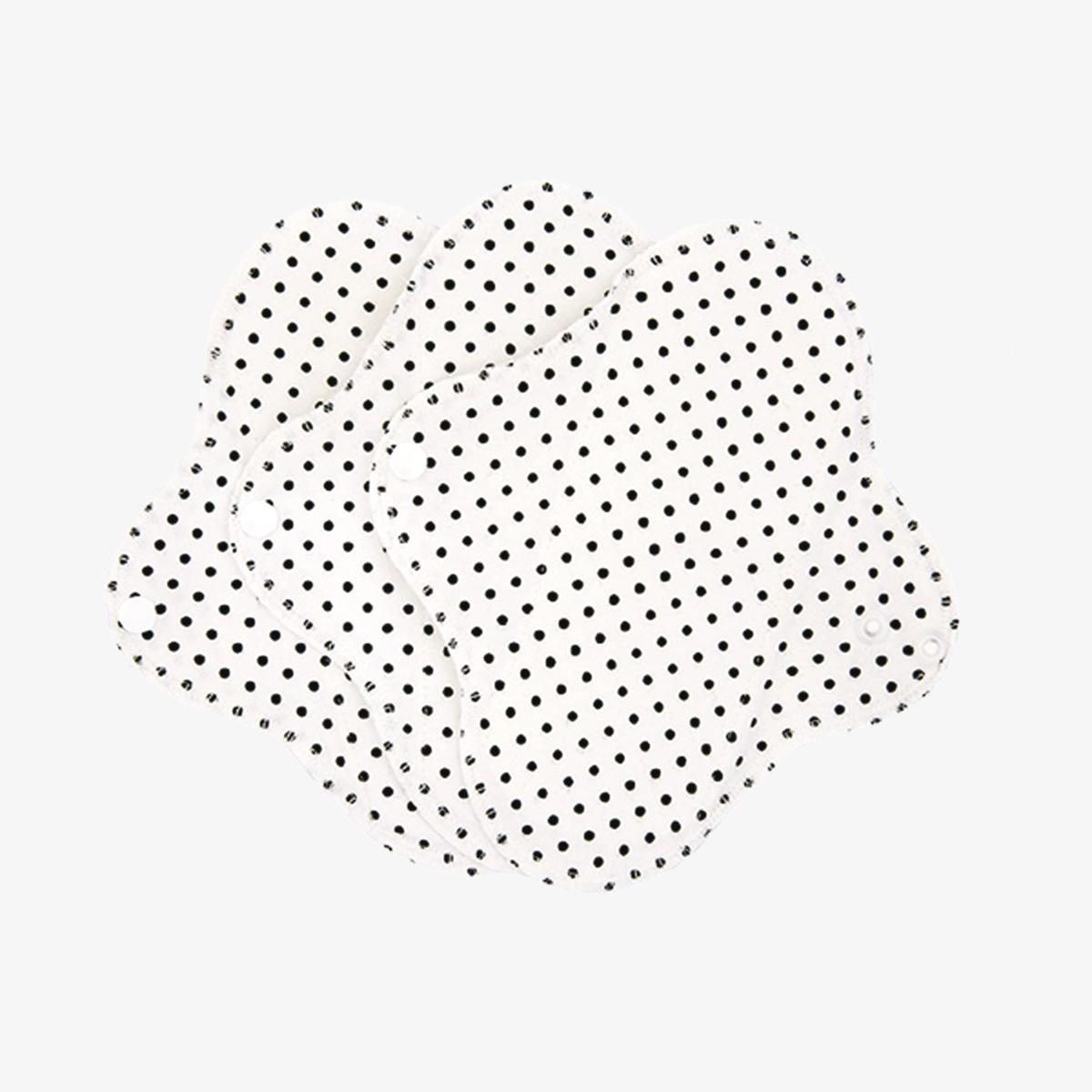 Imse Active ekologiskt trosskydd tvätt- och återanvändningsbart 3-pack black dots