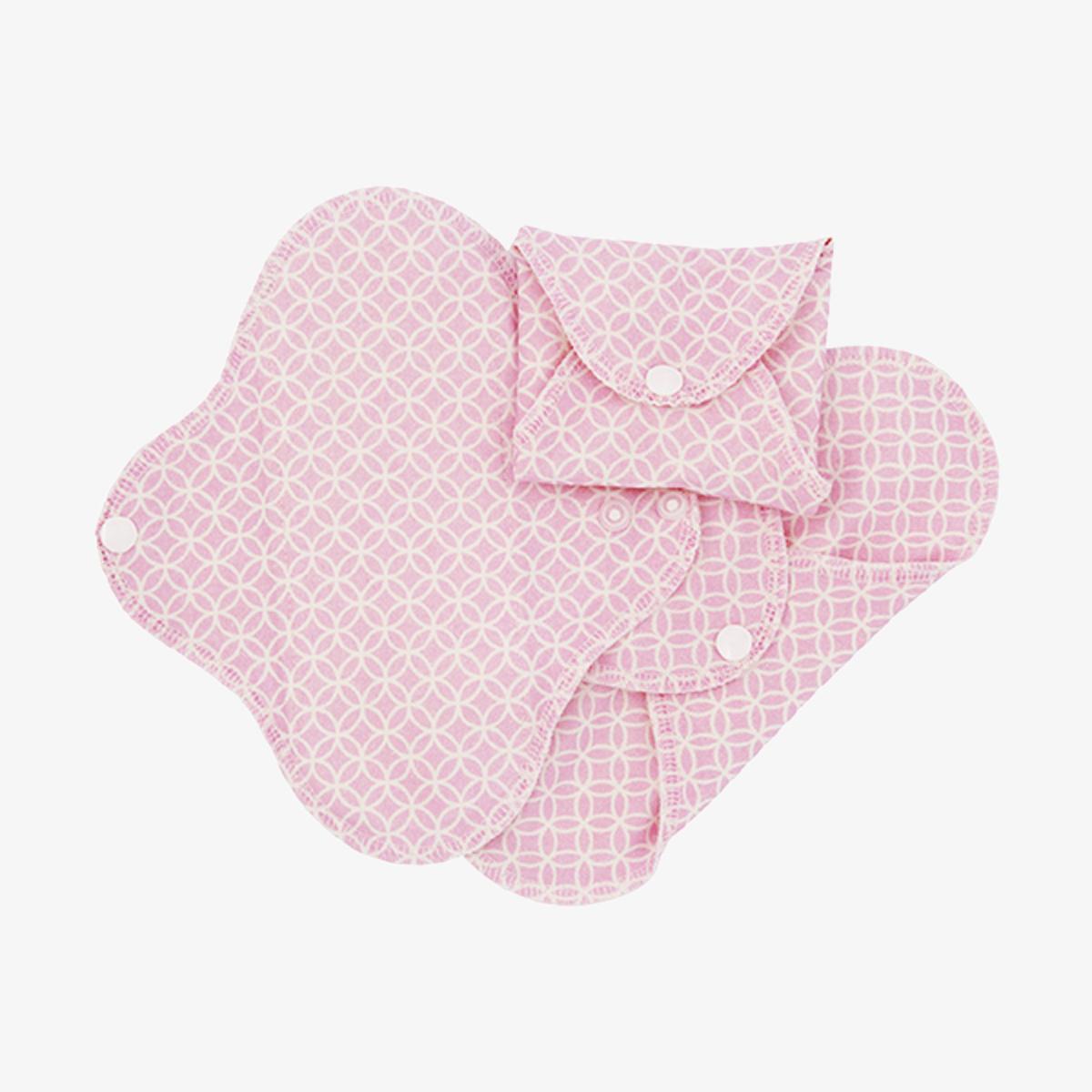 Imse Active ekologiskt trosskydd tvätt- och återanvändningsbart 3-pack pink halo