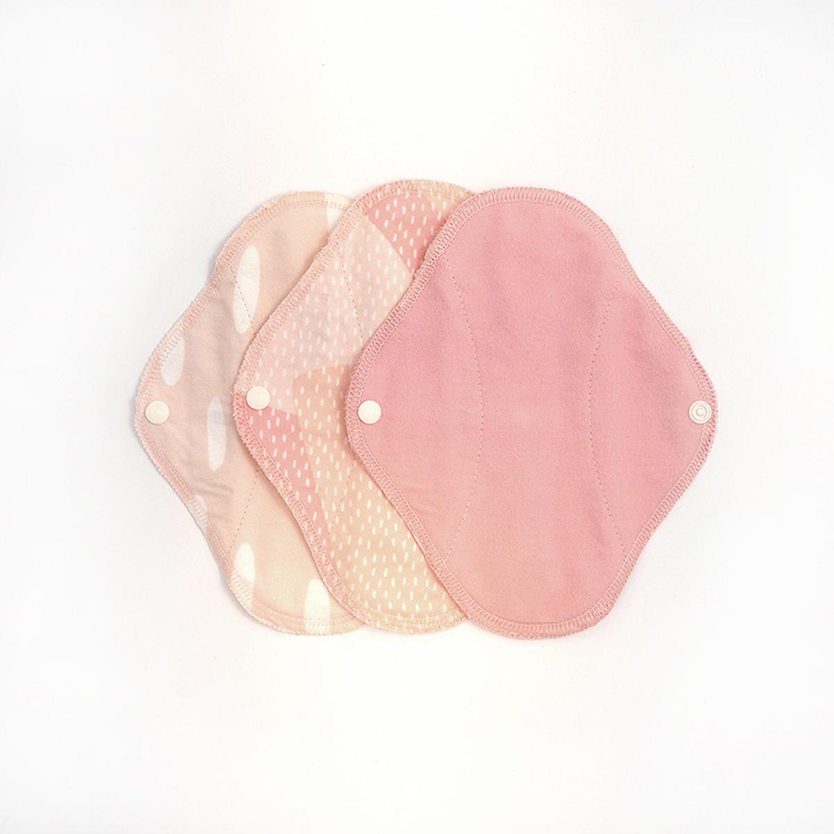 Imse Vimse trosskydd Classic Large natt 100% ekologisk bomull mönster Pink Sprinkle 3-pack