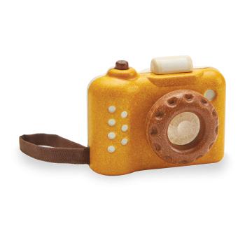 Min första kamera från PlanToys, av gummiträ tränar finmotorik och fokus