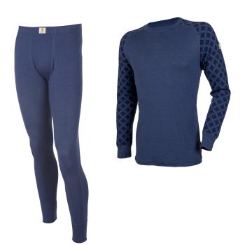 Janus DesignWool herr underställ långkalsonger och tröja mörkblå