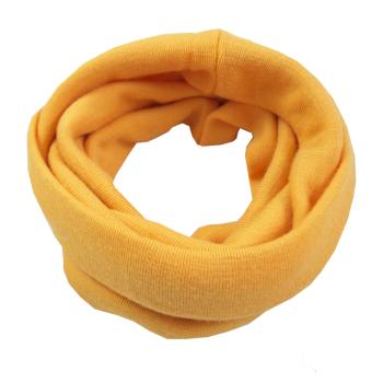 Minimundus halsduk barn av 100% ekologisk merinoull gul