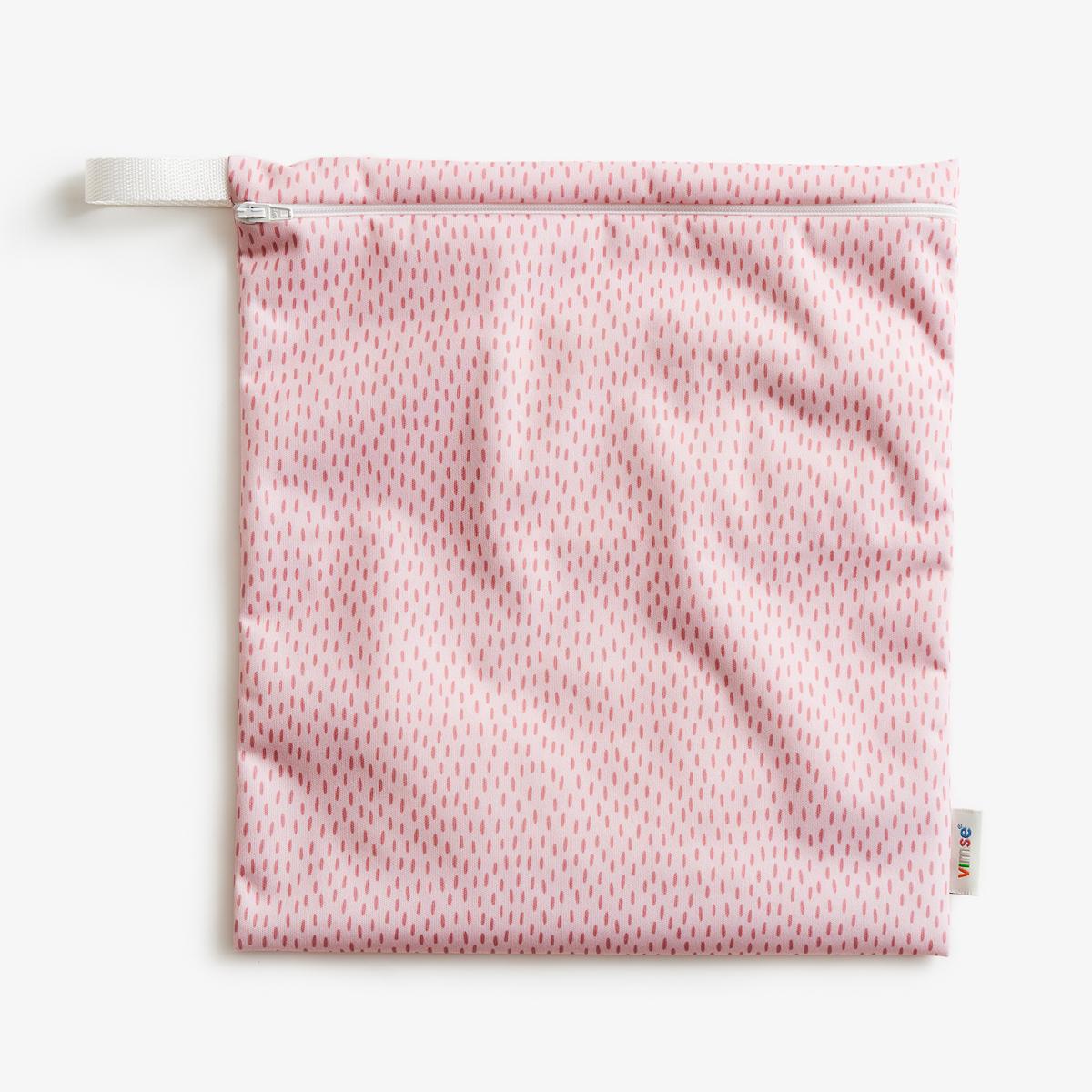 PUL-påse wet bag M med dragkedja mönstrad barn ImseVimse Pink Sprinkle