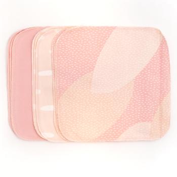 Tvättlappar av ekologisk bomullsflanell från ImseVimse 10 st per förpackning mönster Pink Sprinkle