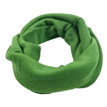 Halsduk neckwarmer barn ekologisk merinoull grön