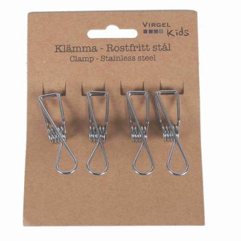 Klämmor av rostfritt stål 4-pack Virgel
