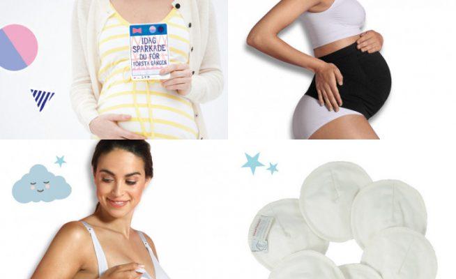 Amnings- och gravidfavoriter, stödgördel, amningsinlägg, amnings-bh och fotokort